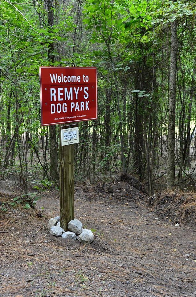 Entrance to Remy's Dog Park