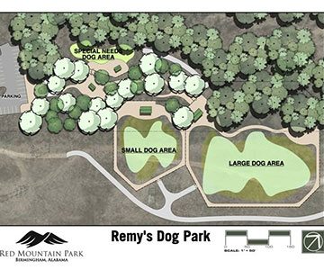 Remy's Dog Park Map